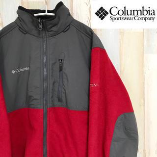 コロンビア(Columbia)のコロンビア フリースジャケット アウトドア 刺繍ロゴ チタンニウム(ナイロンジャケット)