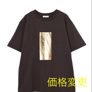STYLE DELI - 未使用 ゴールド箔プリントTシャツ ブラック