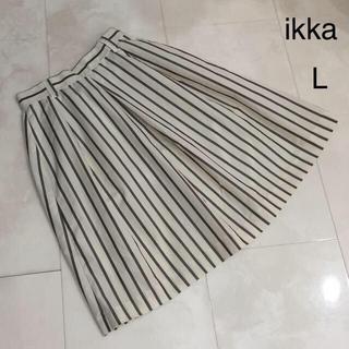 イッカ(ikka)のikka ストライプスカート(ひざ丈スカート)
