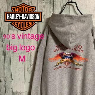 ハーレーダビッドソン(Harley Davidson)の超希少 90's ハーレーダビッドソン サンディエゴ 両面プリント パーカー(パーカー)