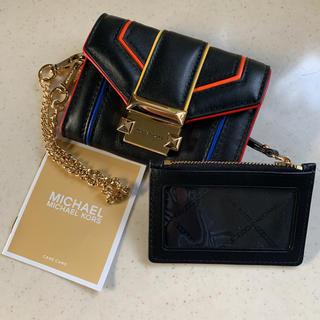 Michael Kors - 新品☆ マイケルコース パスケース収納 チェーン ストラップ付き折財布