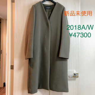 Spick and Span - 【未使用新品】Spick & Span ウールロングコート・カーキグレー・36