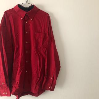 TOMMY HILFIGER - トミーヒルフィガー  レッド 赤 長袖 シャツ