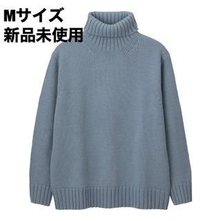 GU - GU ローゲージタートルネックセーター(長袖) ブルー M