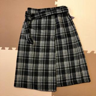 ☆新品・タグ付き☆ Honeys チェックスカート ミモレ丈スカート