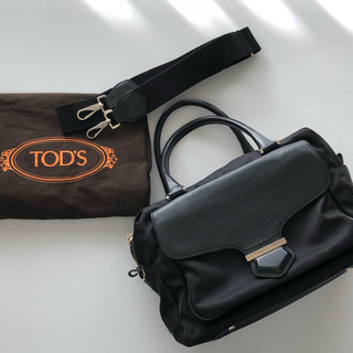 TOD'S - トッズ TOD'D ナイロン レザー Dキューブ  2WAY バッグ