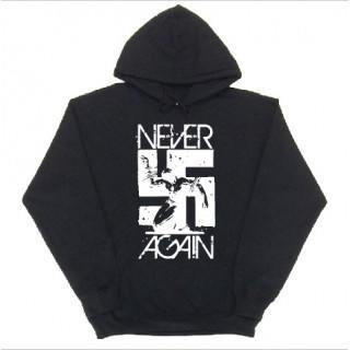 ロック系 卍 never again ロゴ スウェットパーカー git47(パーカー)