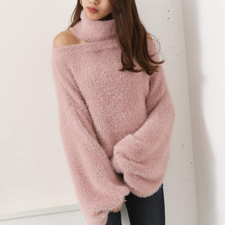 rienda - Off Turtle Official Knit TOP