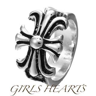 送料無料16号クロムシルバービッグメタルクラウン王冠リング指輪クロムハーツ好きに(リング(指輪))