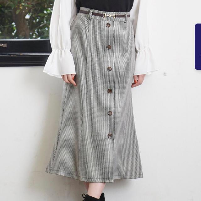 MAJESTIC LEGON(マジェスティックレゴン)のフロントボタンマーメイドスカート レディースのスカート(ロングスカート)の商品写真