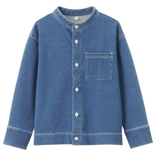 MUJI (無印良品) - らくらく動ける デニムスタンドカラーシャツ