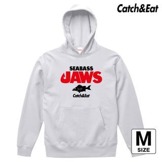 Catch&Eat【SEABASS JAWS パーカー】【ホワイト M】(ウエア)