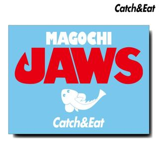 Catch&Eat【MAGOCHI JAWS ステッカー】【ホワイト】(その他)