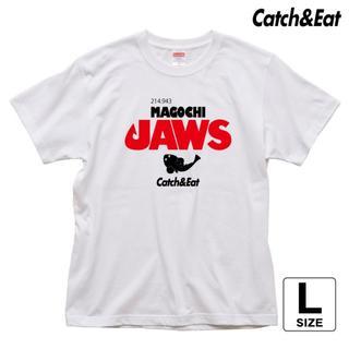 Catch&Eat【MAGOCHI JAWS Tシャツ】【ホワイト L】(ウエア)
