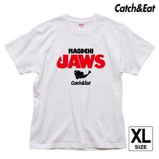 Catch&Eat【MAGOCHI JAWS Tシャツ】【ホワイト XL】(ウエア)