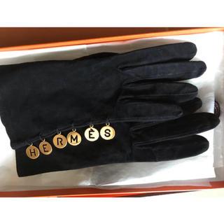 エルメス(Hermes)の稀少♡ エルメス ゴールド ロゴ グローブ(手袋)