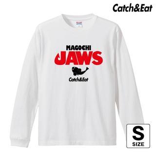 Catch&Eat【MAGOCHI JAWS 長袖Tシャツ】【ホワイト S】(ウエア)