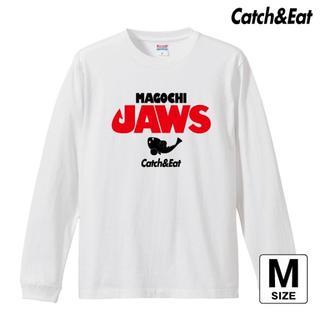 Catch&Eat【MAGOCHI JAWS 長袖Tシャツ】【ホワイト M】(ウエア)