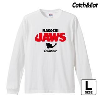 Catch&Eat【MAGOCHI JAWS 長袖Tシャツ】【ホワイト L】(ウエア)
