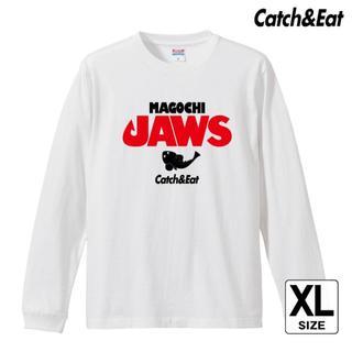 Catch&Eat【MAGOCHI JAWS 長袖Tシャツ】【ホワイト XL】(ウエア)