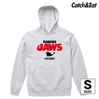 Catch&Eat【MAGOCHI JAWS パーカー】【ホワイト S】(ウエア)