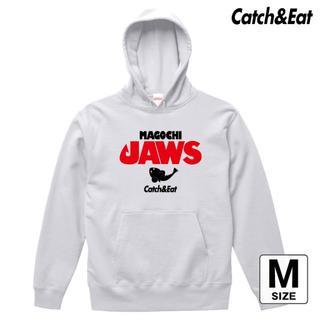 Catch&Eat【MAGOCHI JAWS パーカー】【ホワイト M】(ウエア)