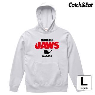 Catch&Eat【MAGOCHI JAWS パーカー】【ホワイト L】(ウエア)
