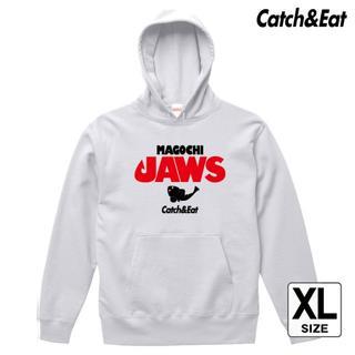 Catch&Eat【MAGOCHI JAWS パーカー】【ホワイト XL】(ウエア)