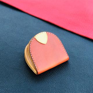 馬蹄型コインケース 生成色のイタリアンレザーを使用。飴色に経年変化を楽しめます(コインケース)