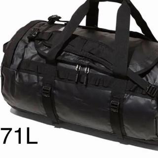 ザノースフェイス(THE NORTH FACE)の新品未使用 ノースフェイス ダッフル  M ブラック 71L(ボストンバッグ)