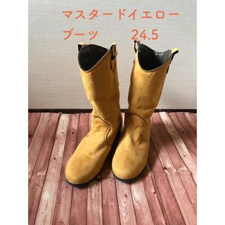 イエロー ブーツ 24.5(ブーツ)