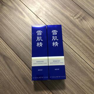 セッキセイ(雪肌精)の新品未使用☆薬用雪肌精ホワイトクリームウォッシュ(洗顔料)