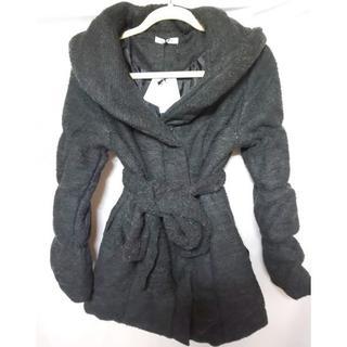 LIP SERVICE - 新品 LIP SERVICE 冬物 腰リボン付きオーバーネック中綿コート