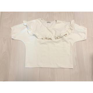 フィフス(fifth)のcolor 胸元フリル オフホワイト アイボリー ナチュラル M(シャツ/ブラウス(半袖/袖なし))