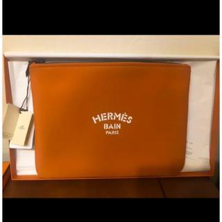 エルメス(Hermes)のエルメス ネオバン  MM オレンジ 入手困難カラー(ポーチ)