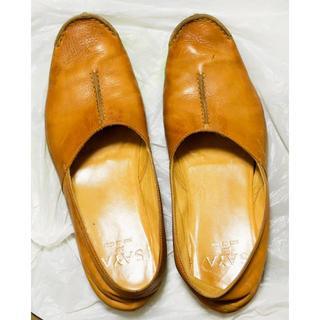 サヤ(SAYA)のSAYA フラットシューズ 24cm レザー ブラウン サヤ(ローファー/革靴)
