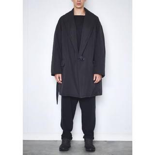COMOLI - 美品 18ss comoli 中綿 ショールカラーコート ブラック