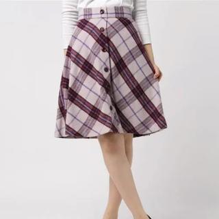 PROPORTION BODY DRESSING - シャギータータンフロント釦フレアースカート