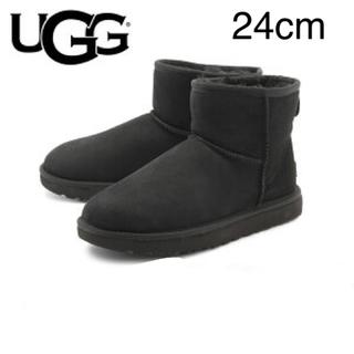 UGG - UGG CLASSIC MINI クラシックミニ アグ 24cm 新品 ブラック
