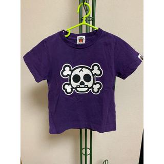 アベイシングエイプ(A BATHING APE)のエイプAPE キッズTシャツ紫 100cm(Tシャツ/カットソー)