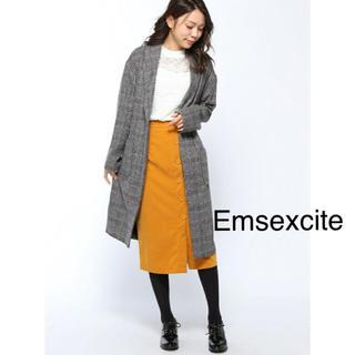 エムズエキサイト(EMSEXCITE)のEmsexcite  グレンチェックコート エムズエキサイト(チェスターコート)