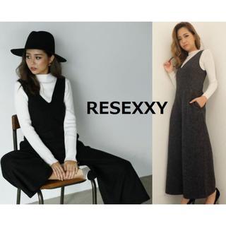 RESEXXY - RESEXXY ウォーム Vネック コンビネゾン グレー リゼクシー フリース