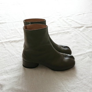 Maison Martin Margiela - Maison Margiela  新作ローヒール足袋ブーツ カーキ