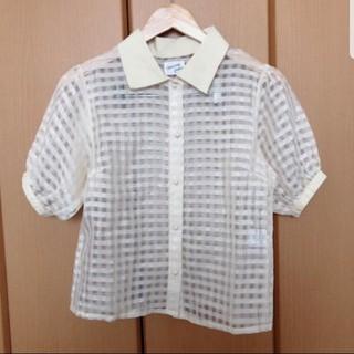 メリージェニー(merry jenny)のmerry jenny パフスリーブシャツ シースルー(シャツ/ブラウス(半袖/袖なし))