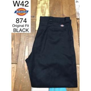 ディッキーズ(Dickies)の39664 アメリカ 輸入 USED ディッキーズ 874 ブラック W42(ワークパンツ/カーゴパンツ)