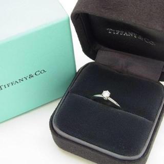 Tiffany & Co. - ティファニー 立爪ダイヤ 0.28ct-G-IF-3EX 鑑定書あり 未使用