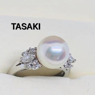 TASAKI - TASAKI パールリング ダイヤモンド0.38ct  Pt900  10号