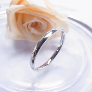 ダイヤカットが美しく輝く華奢リング*°シルバー°*【単品】(リング(指輪))