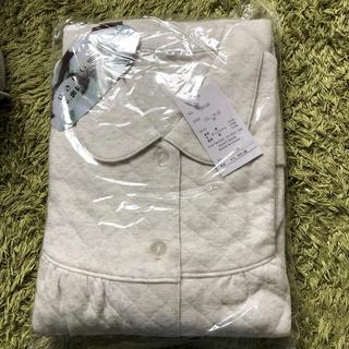 新品綿100%高級パジャマキルティングレディースグレー