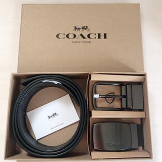 COACH - 新品 COACH ベルト ギフトセット シグネチャー ブラック